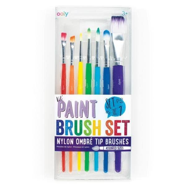International Arrivals The Brush Works - 7 Nylon Ombre Top Brushes