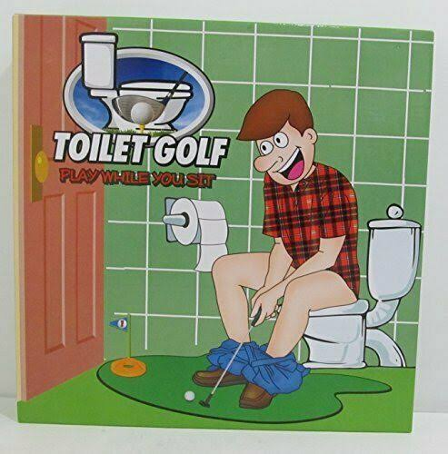 Island Dogs Toilet Golf Play While You Sit Putting Kit