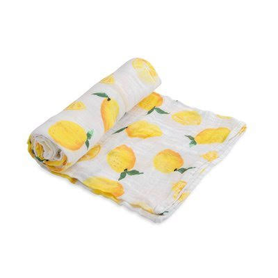 Little Unicorn Cotton Muslin Swaddle (Lemon)