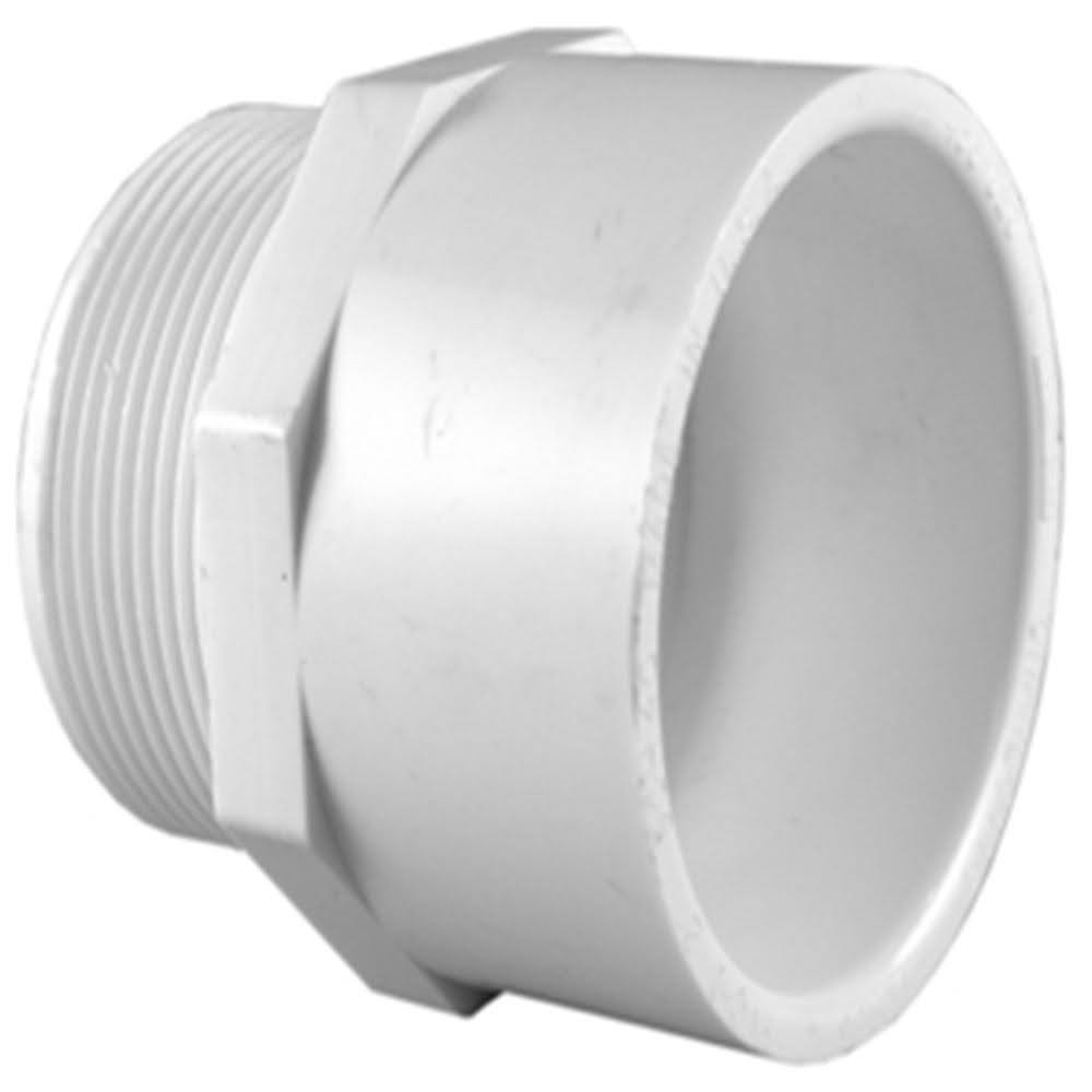 Charlotte Pipe PVC Sch. 40 MPT x S Male Adapter - 3/4 in