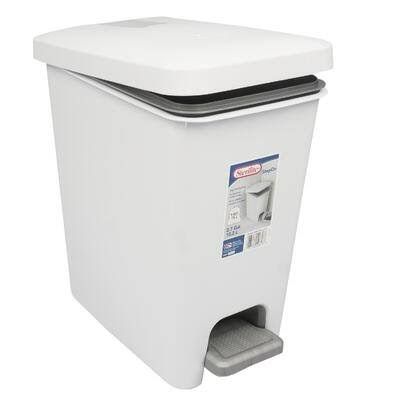 Rectangular 2.7 Gallon Step on Trash Can Sterilite Color: White