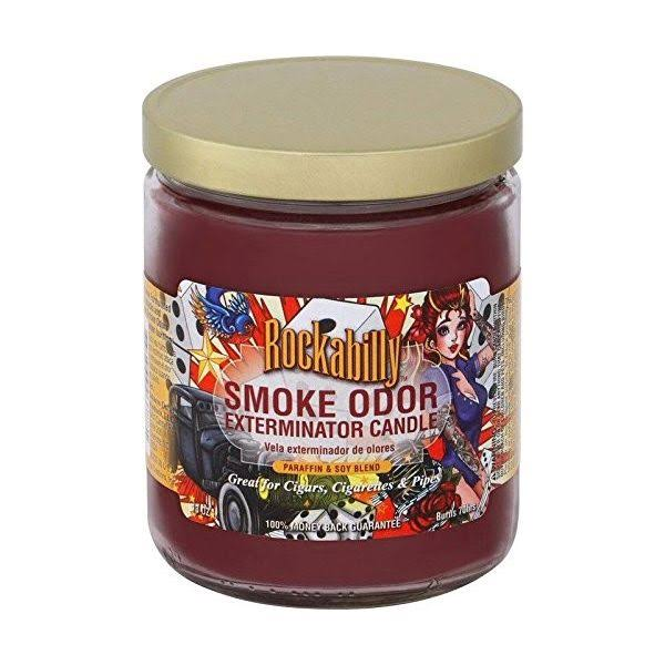 Smoke Odor Exterminator 13oz Jar Candle, Rockabilly, 13 oz