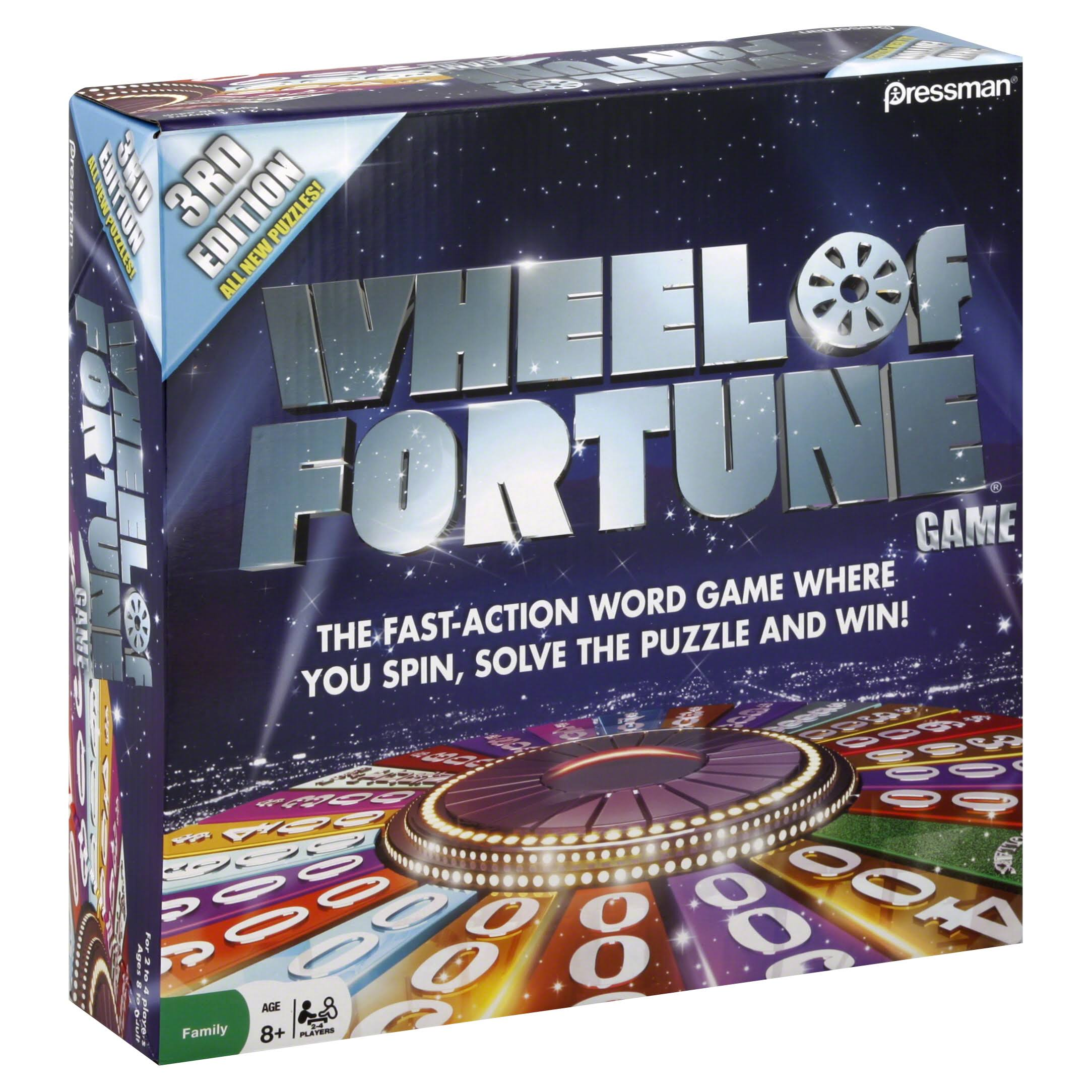 Pressman Toy Wheel of Fortune Game - 3rd Edition