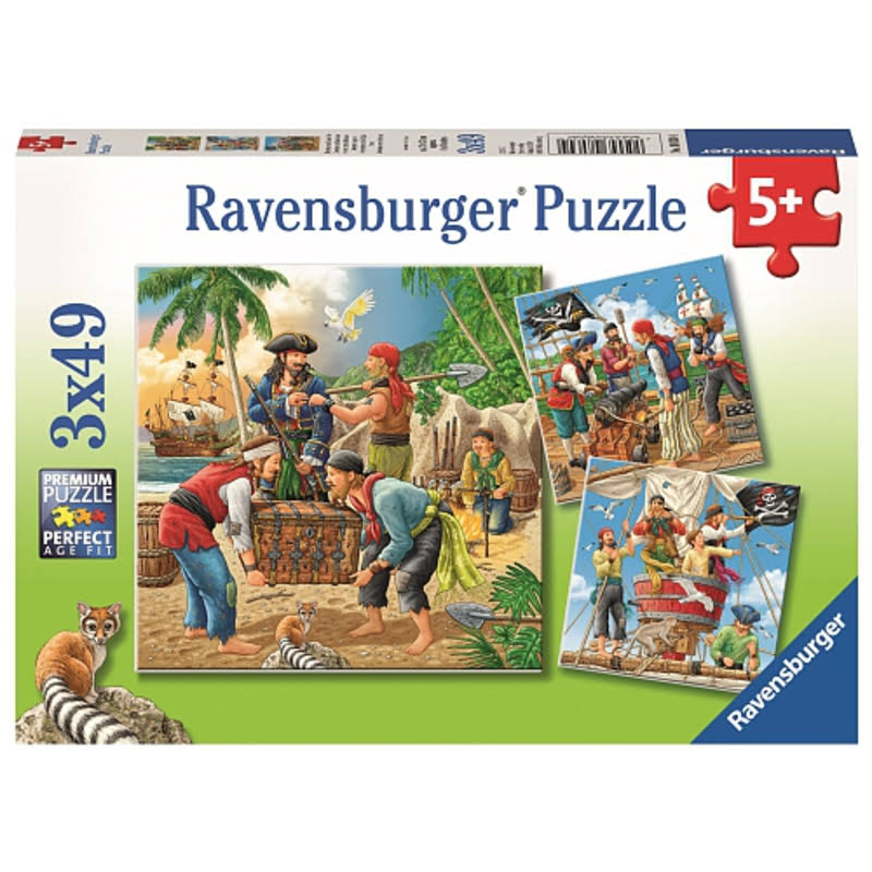 Ravensburger High Seas Adventure Jigsaw Puzzles - 3ct x 49pc