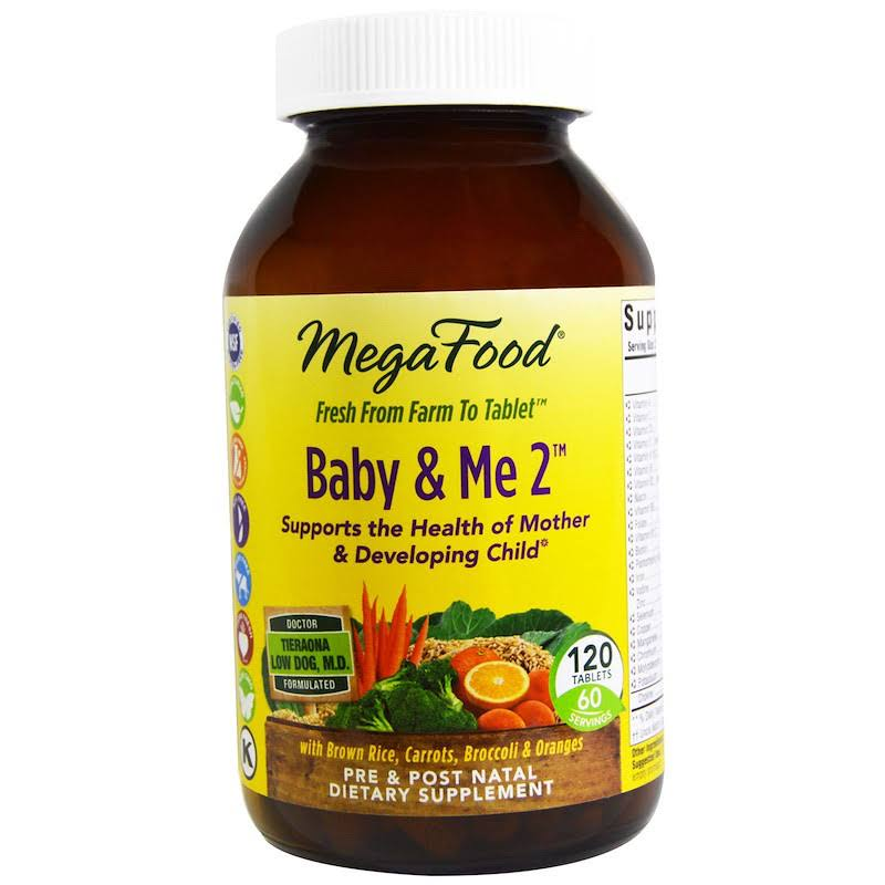 Megafood Baby & Me 2 Dietary Supplement - 120 Tablets