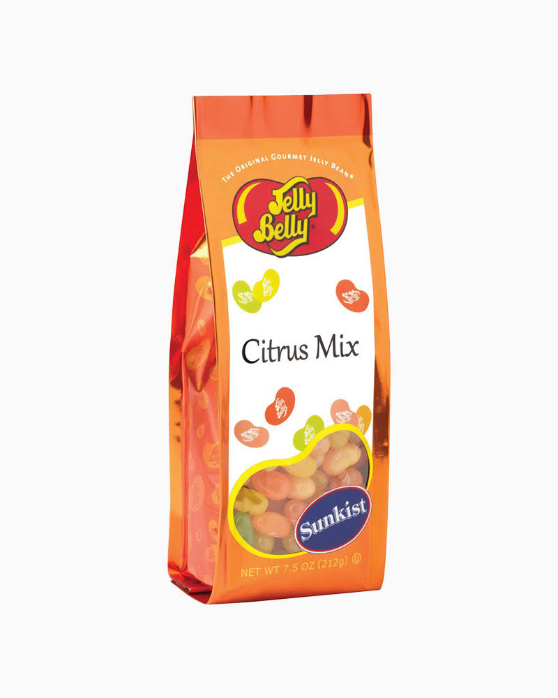 Jelly Belly Sunkist Citrus Mix Jelly Beans 7.5 oz Gift Bag