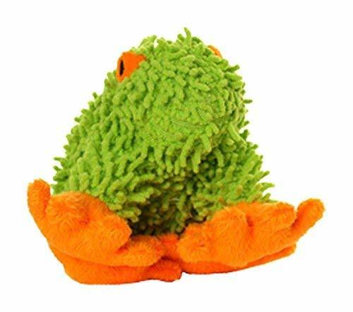 VIP Mighty Junior Microfiber Durable Dog Toy - Frog, Green