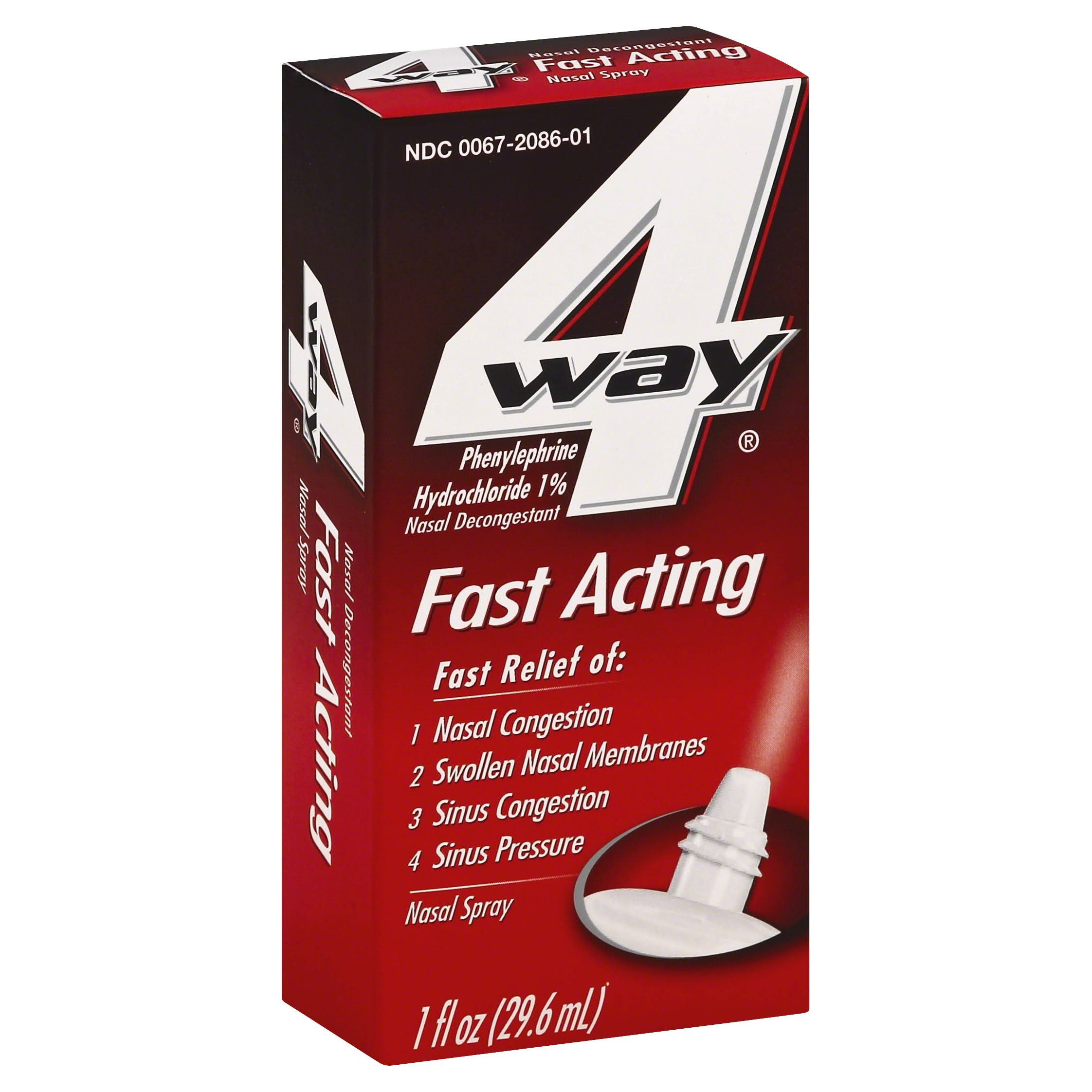 4 Way Fast Acting Nasal Spray - 1oz