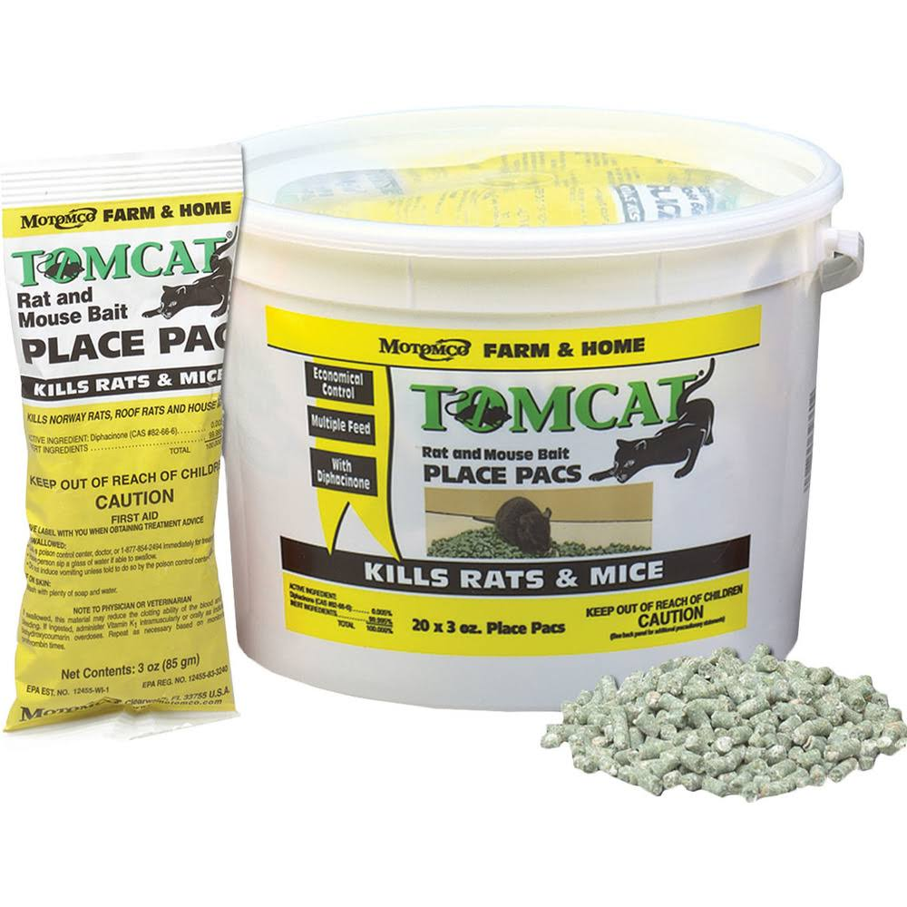 Motomco Tomcat Mouse and Rat Bait - 3oz