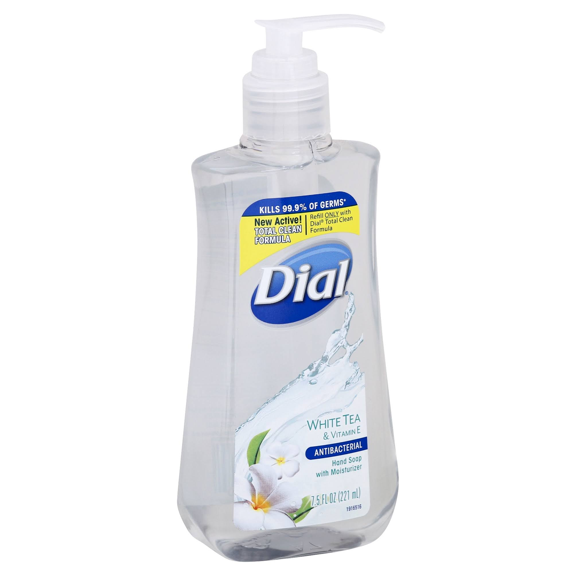 Dial Antibacterial Liquid Hand Soap - White Tea & Vitamin E, 7.5oz