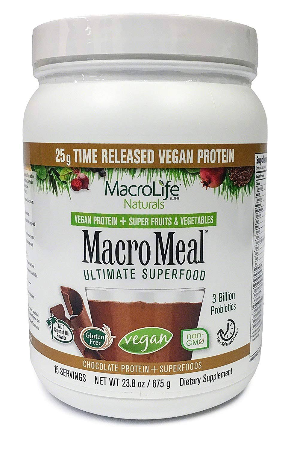 MacroLife Naturals Macro Meal Chocolate Protein + Superfoods - 23.8oz