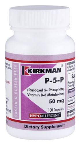 Kirkman P 5 P 50 Dietary Supplement - 50mg, 100 Vegicaps