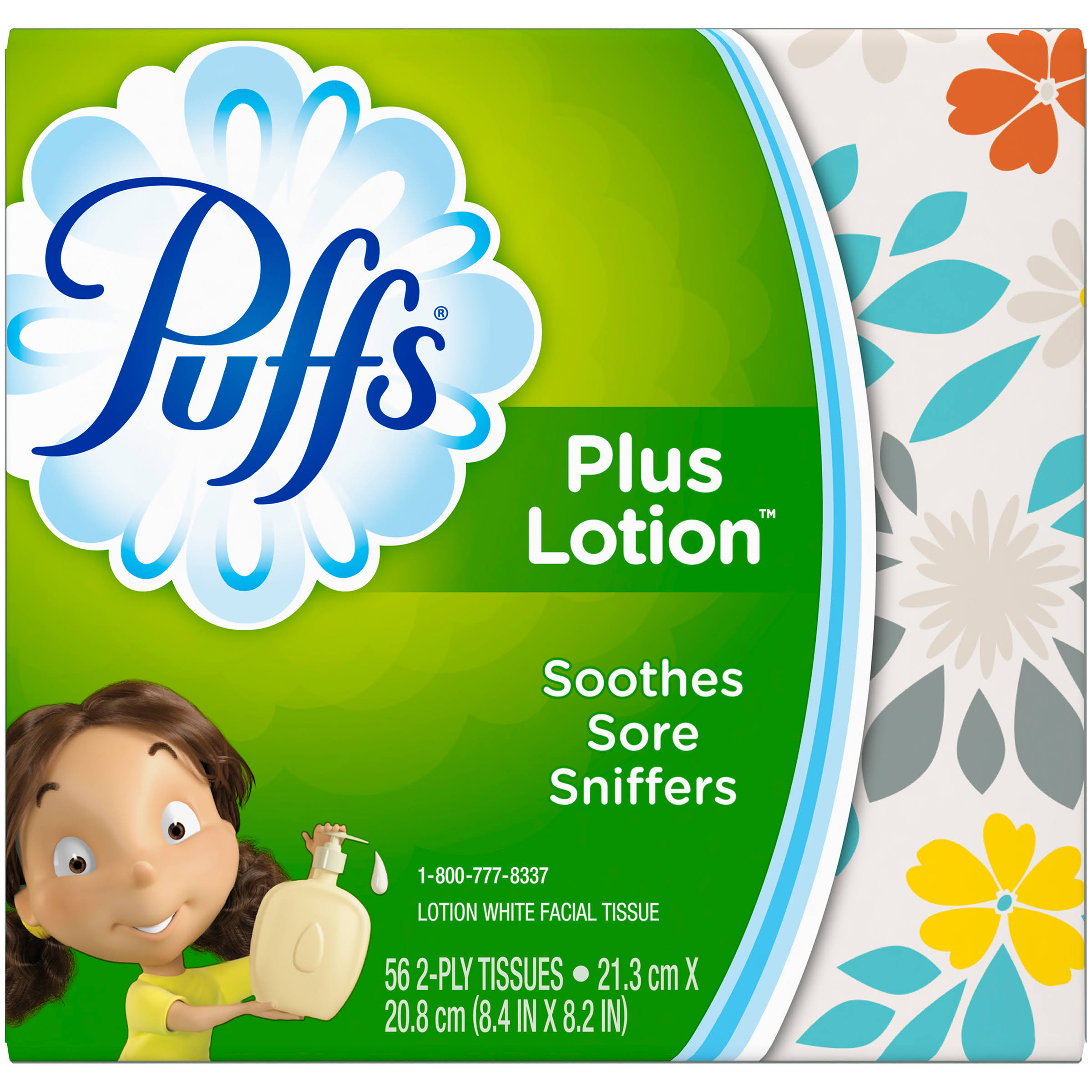 Puffs Facial Tissues - Plus Lotion, 56ct