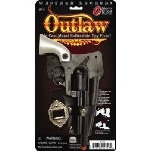 Parris Western Legends Outlaw Die Cast Metal Collectible Toy Pistol