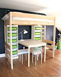 diy loft bed with desk and storage bunk bed with table underneath
