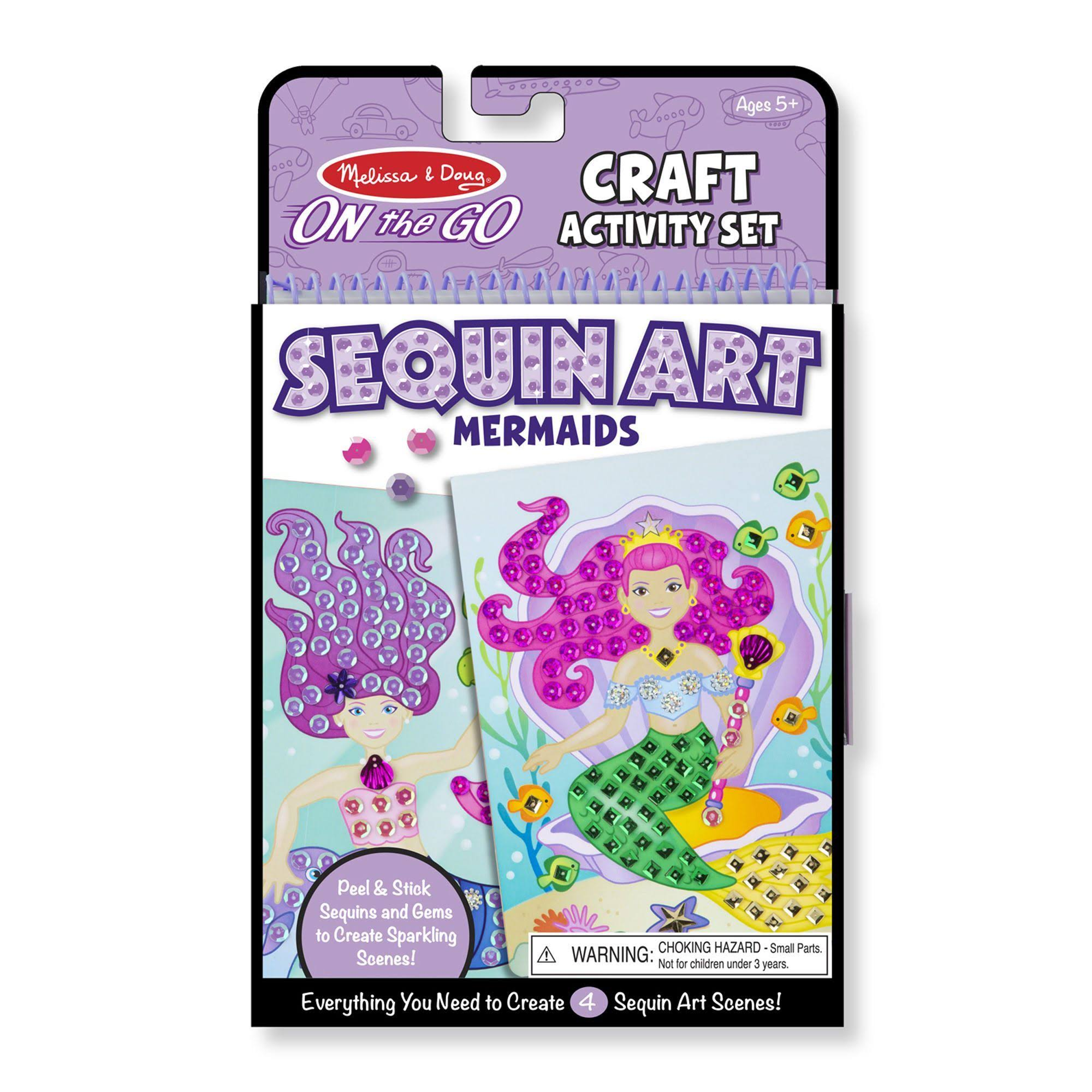 Melissa and Doug | Melissa Sequin Art Mermaids On-The-Go Activity Set