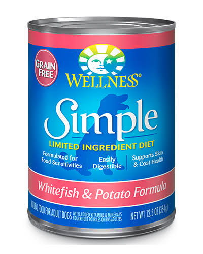 Wellness Simple Limited Ingredient Dog Food - Whitefish and Potato, 12.5oz