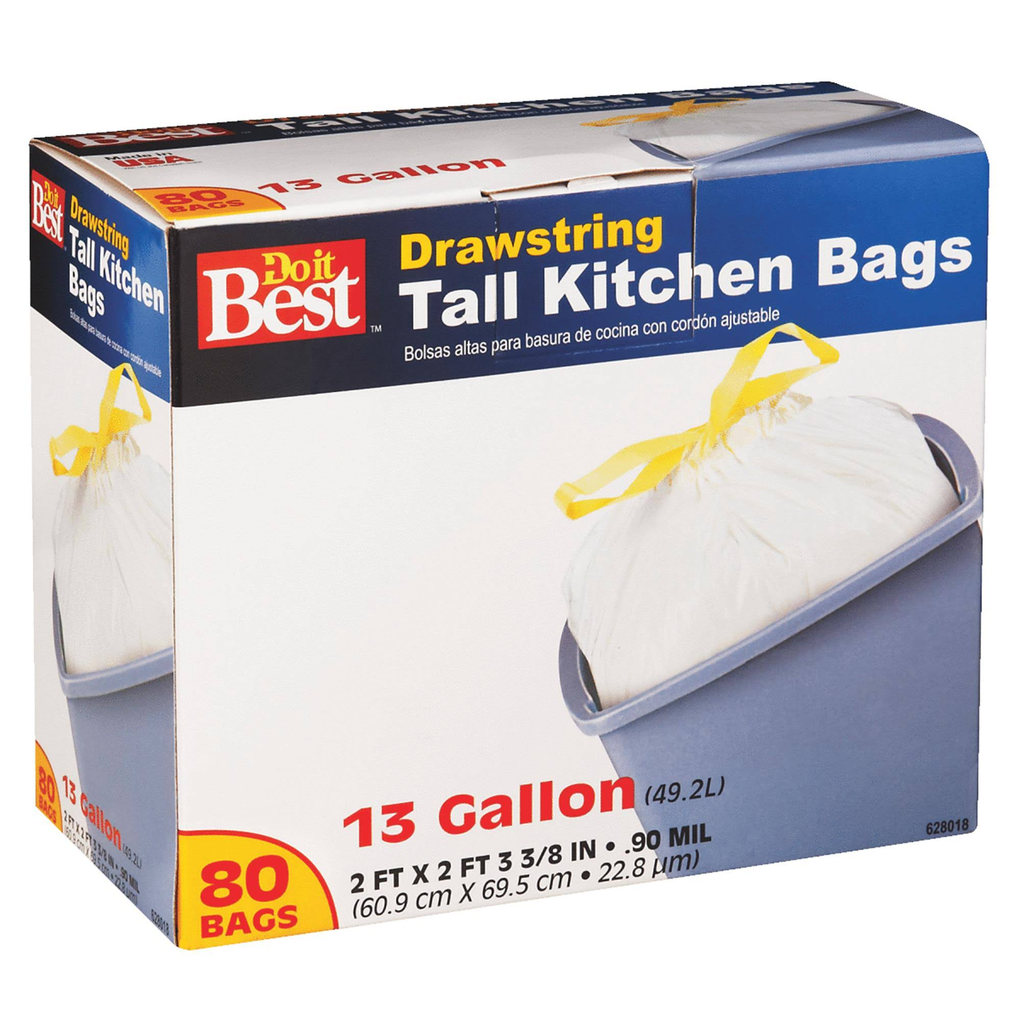 Do It Best Drawstring Tall Kitchen Trash Bag - 80 Bags