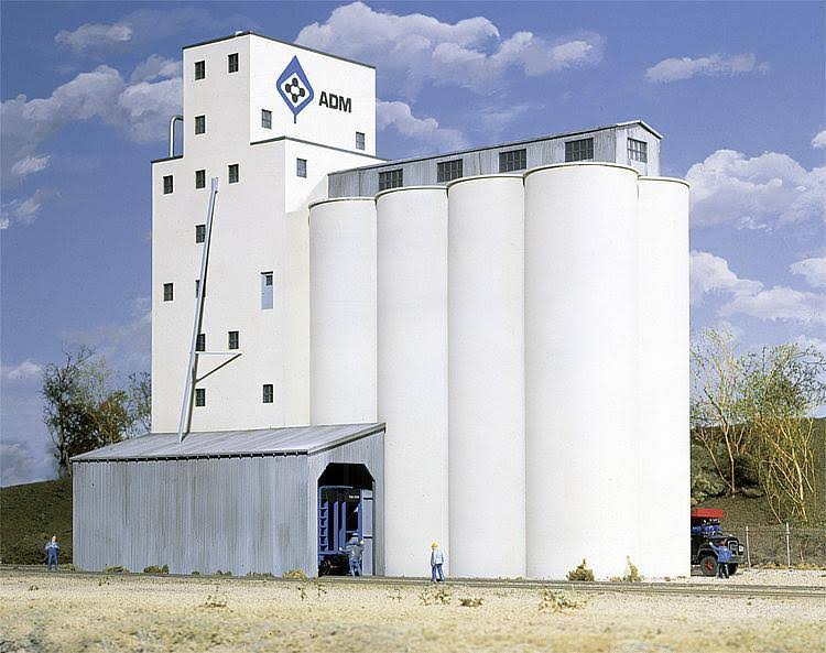 Walthers Cornerstone HO 933-3022 ADM Grain Elevator Kit