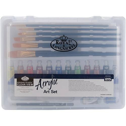 Royal and Langnickel Essentials Clear View Acrylic Painting Set - Large