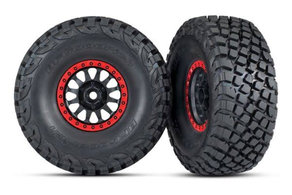 Traxxas 8474 Method Wheels - Red Beadlock