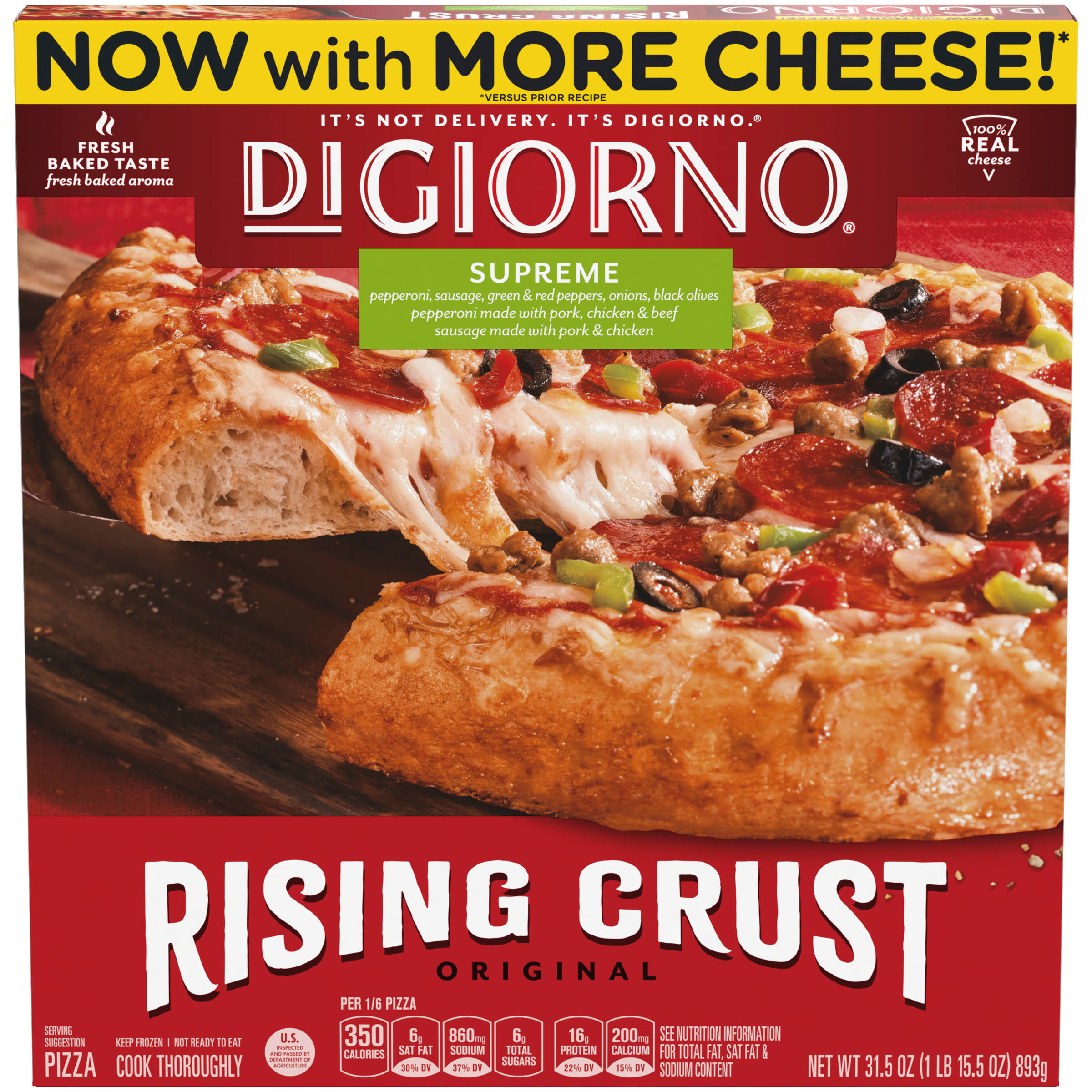 Digiorno Original Rising Crust Supreme Pizza - 893g