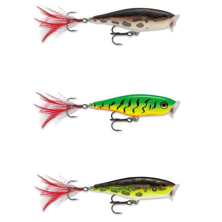 Rapala Skitter Pop Fishing Hard Bait - Fire Tiger, Size 07