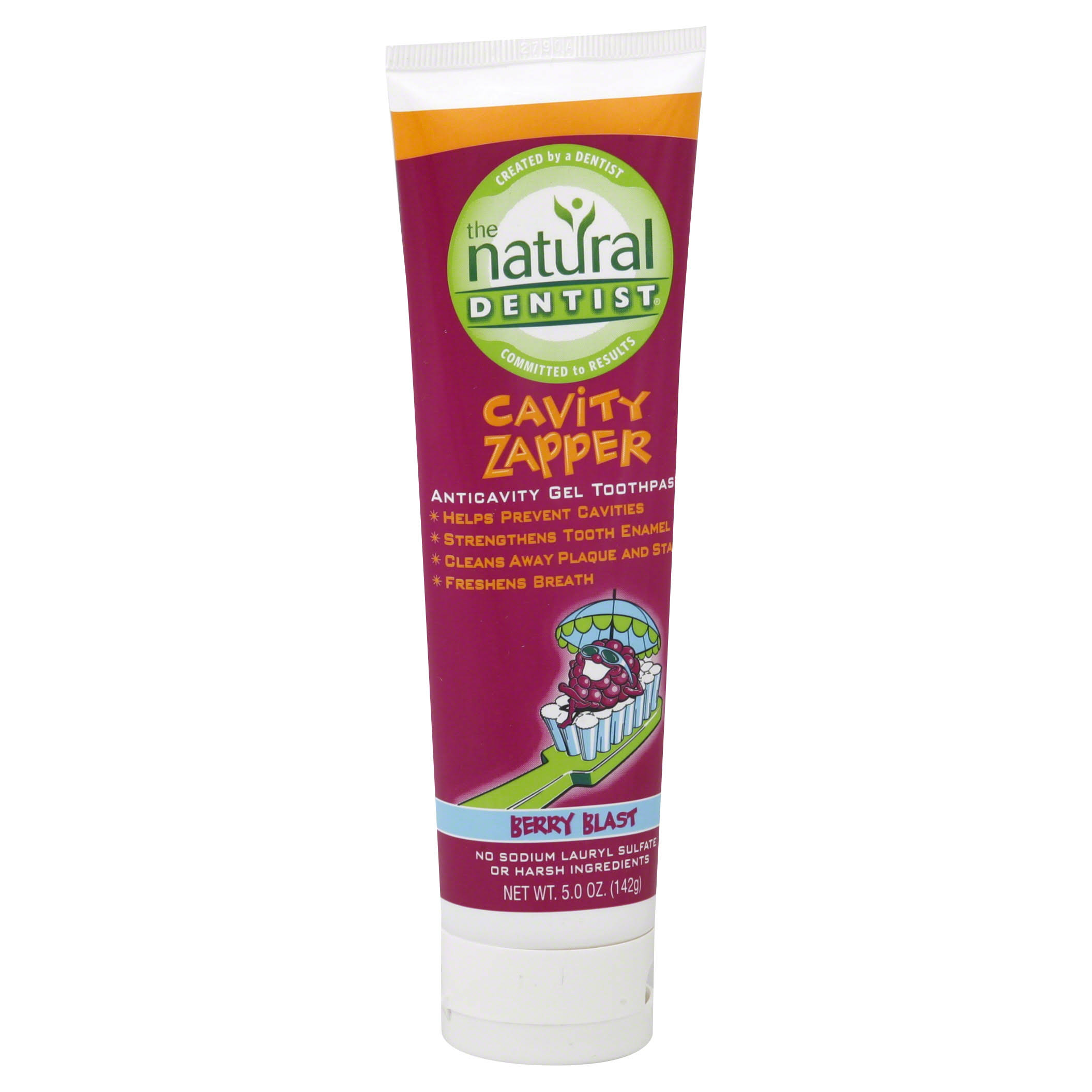 Natural Dentist Cavity Zapper Anticavity Gel Toothpaste - Berry
