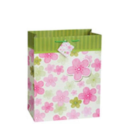 Unique 64362 Floral Fashion Gift Bag, Matte, Large