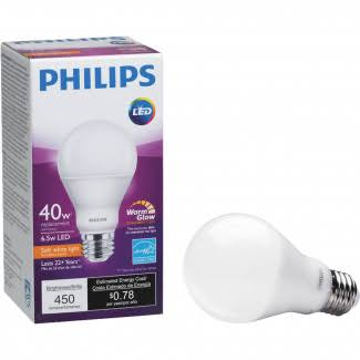 Philips 455741 A19 Dimmable LED Light Bulb - Soft White