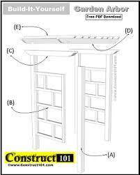 plans how to build a garden arbor