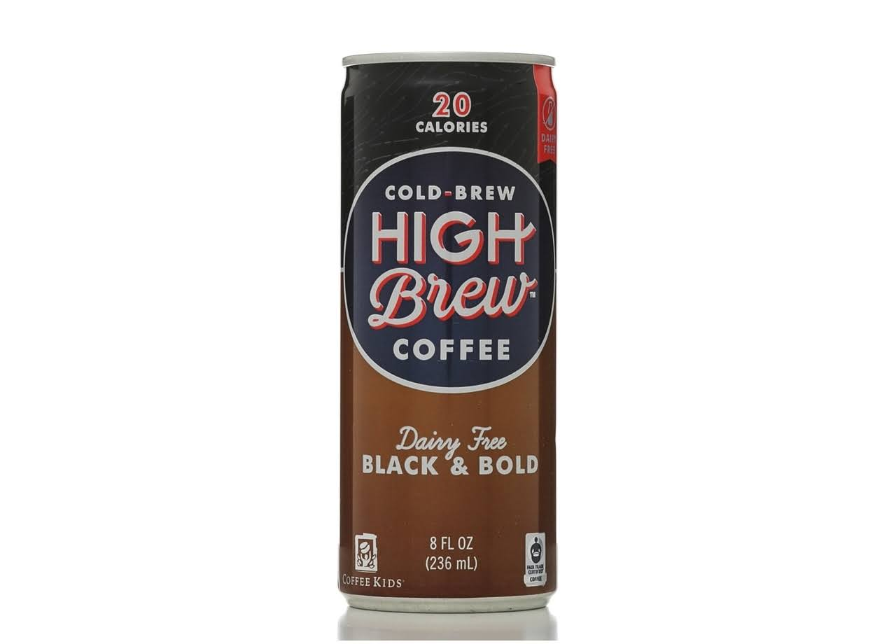 High Brew Black and Bold Coffee - Dairy Free, 8oz