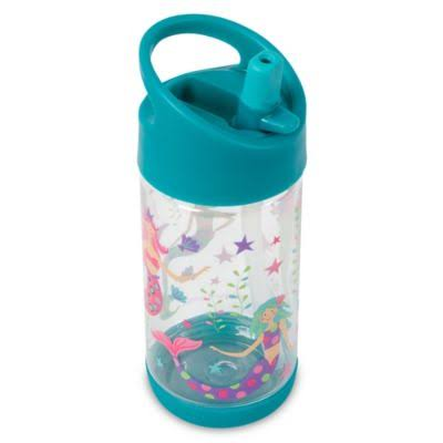 Stephen Joseph Paisley Garden Flip Top Bottle - Aqua Green, Mermaid