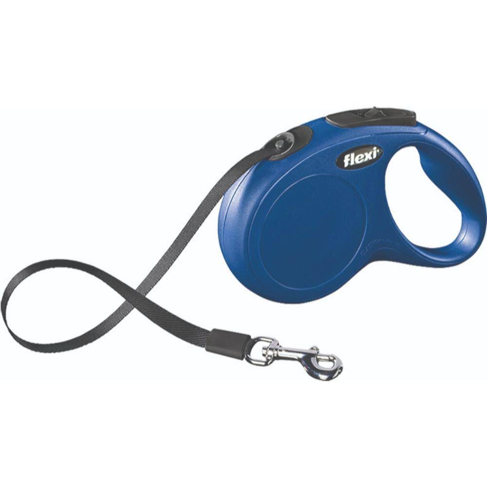 Flexi Classic Retractable Dog Leash - Blue, 16 feet