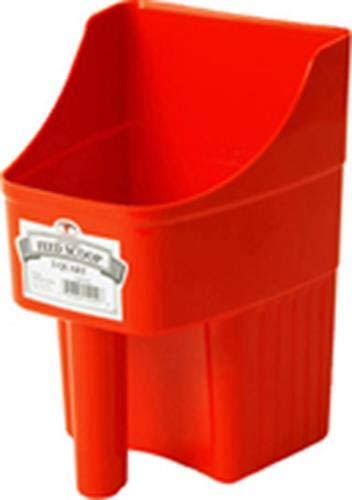 Miller Enclosed Feed Scoop - Red, 3 Quart