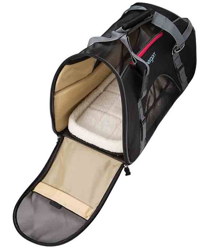Bergan Wheeled Pet Comfort Carrier - Black & Gray, L, 19in x 10in x 13in