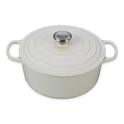 Le Creuset Enameled Cast Iron Signature Round French Oven - White, 5.5qt