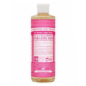 Dr. Bronner's Organic Pure Castile Liquid Soap - Rose, 16 fl oz