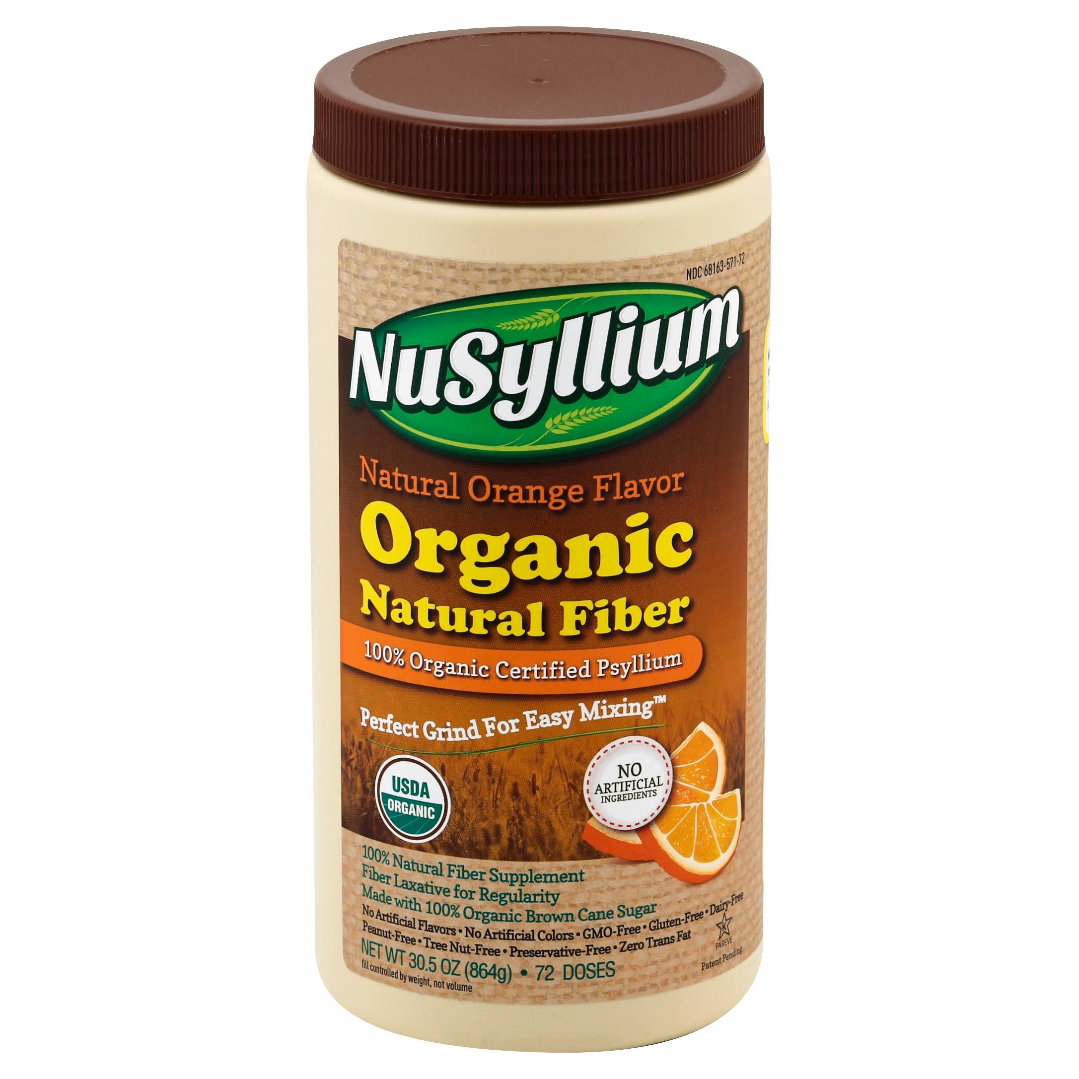 Nusyllium Organic Fiber Supplement - Natural Orange, 30oz