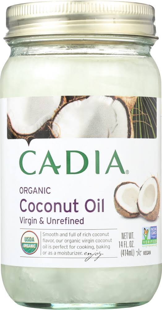 Cadia: Unrefined Organic Virgin Coconut Oil , 14oz