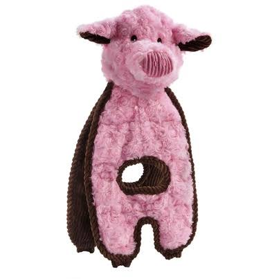 Charming Pet Cuddle Tugs Polyester Soft and Durable Squeaker Dog Toy - Peachy Pig