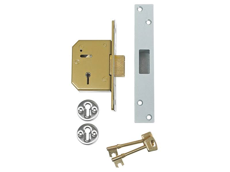 Union C Series 5 Lever Deadlock - Satin Brass, 67mm