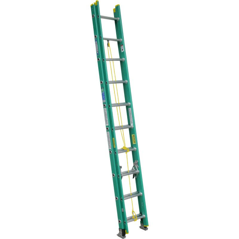Werner Fiberglass D-Rung Extension Ladder - 20'
