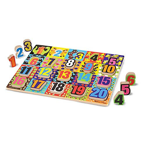 Melissa and Doug Jumbo Numbers Wooden Chunky Puzzle