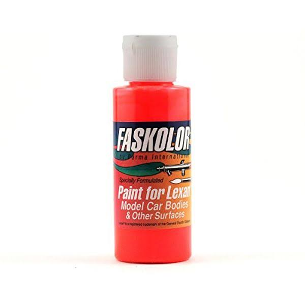 Parma PAR40105 Faskolor Airbrush Paint - Fluorescent Red, 2oz