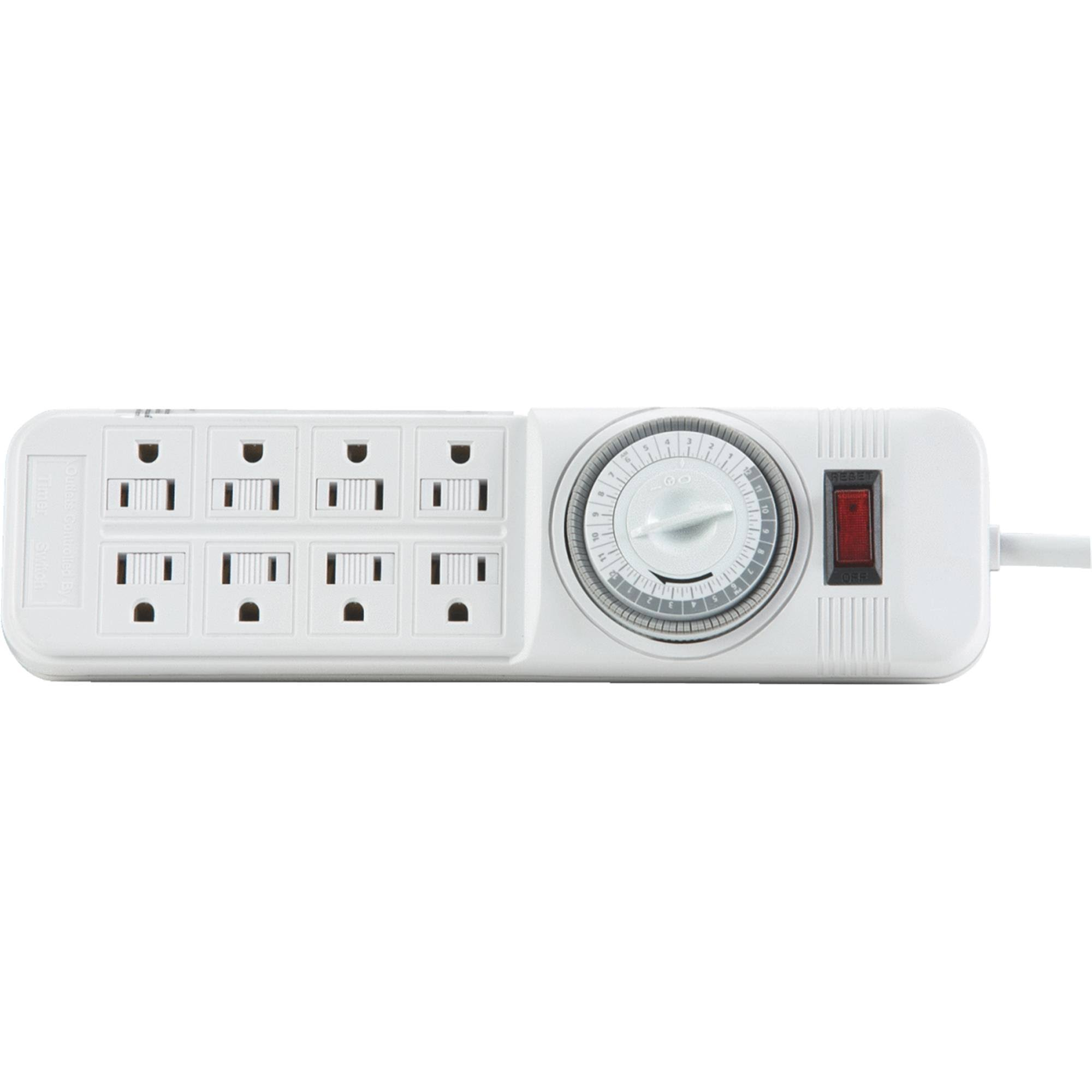Woods Import Power Strip 4 Outlet - with Timer