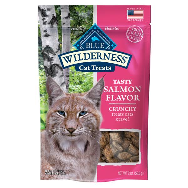 Blue Wilderness Cat Treats, Salmon Flavor, Crunchy - 2 oz