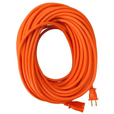 Master Electrician 02208ME Round Vinyl Extension Cord - Orange, 50ft