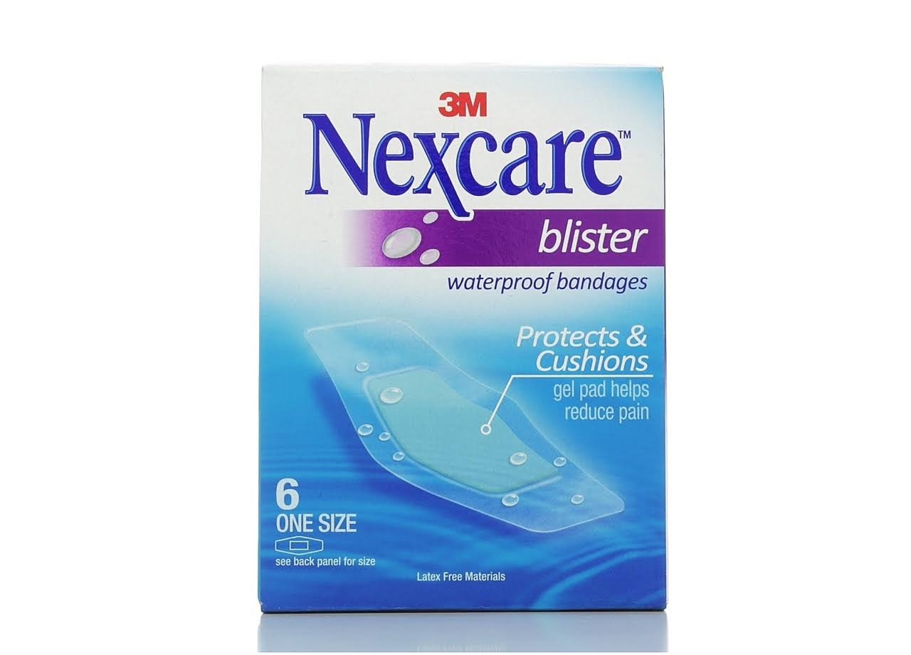 3M Nexcare Waterproof Blister Bandages - One Size, 6 Count