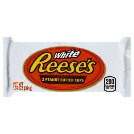 Reeses Peanut Butter Cups, White - 2 cups, 1.39 oz